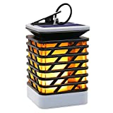 Umiwe Solar Candle Lights Outdoor, LED Waterproof Flickering Flame Candle Lights Solar Powered Lantern Hanging Decorative Lamp for Pathway Garden Deck Christmas Holiday Party Waterproof Auto On/of