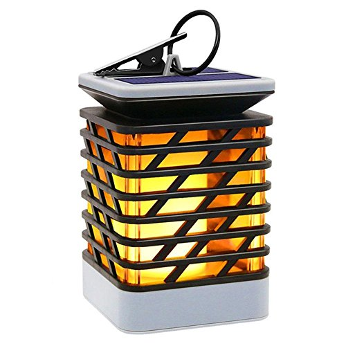 Post Candle Lantern - Umiwe Solar Candle Lights Outdoor, LED Waterproof Flickering Flame Candle Lights Solar Powered Lantern Hanging Decorative Lamp for Pathway Garden Deck Christmas Holiday Party Waterproof Auto On/of