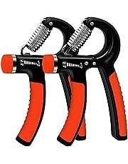 WeyTy 2er-Set Handtrainer, Hand Trainingsgerät Einstellbarer Widerstandsbereich 5-60kg Unterarm Krafttraining Schwer Handgelenk Fingerhantel Handmuskeltrainer