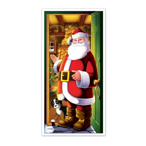 Beistle 1-Pack Santa Door Cover 30-Inch by 5-Feet