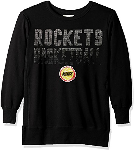 NBA Houston Rockets Women's Showtime Pullover Sweater, Medium, Black