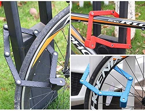 HOMYY Candado Bicicleta, Plegable Cadena de Bicicleta Candado ...