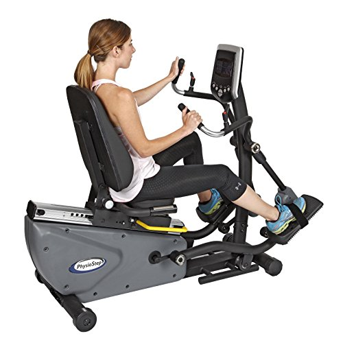 affordable HCI Fitness Physio Step HXT Recumbent Compact Semi-Elliptical Cross Trainer, Grey/Black
