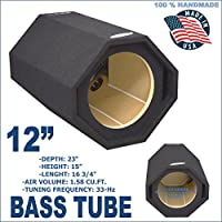 BASS TUBE 12 PORTED SUB BOX PRO VENTED SUBWOOFER ENCLOSURE GROUND-SHAKER