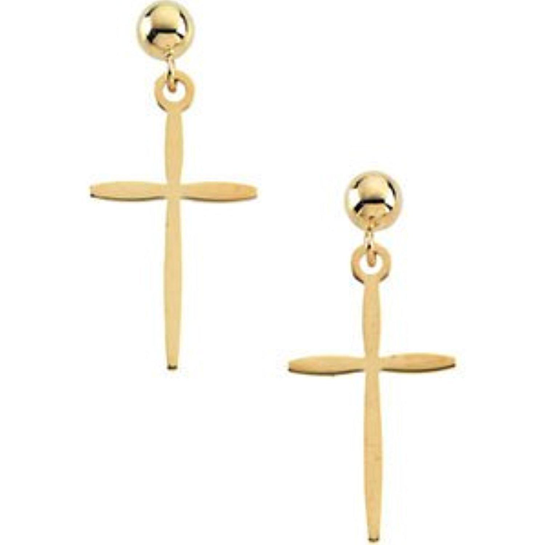 14k Yellow Gold Dangle Earring