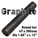 Graphite Round Rod, Oversized Tolerance, 1.85'' Diameter, 12'' Length