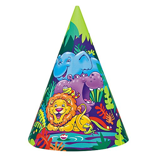 - Smiling Safari Party Hats, 8ct