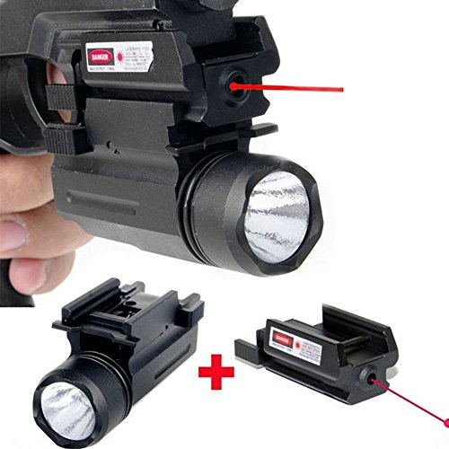 Tactical Combo Light (Laser Sight with Tactical Flashlight Picatinny Mount Combo)