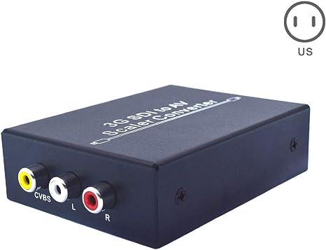 Harwls 3G SDI a 3-RCA AV - Adaptador de Escalera SD-SDI HD-SDI 3G-SDI 2.97Gbps, AU: Amazon.es: Hogar