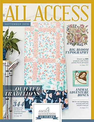 Anita Goodesign All Access VIP Club September 2019 Embroidery Design CD & Book