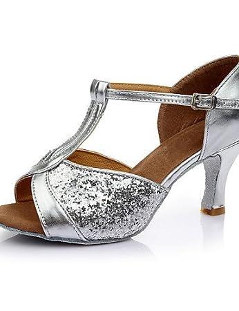 ShangYi Standardschuhe Damen Sandalen Stiletto Tanzschuhe (weitere Farben)  silver-us8.5 / eu39 / uk6.5 / cn40...