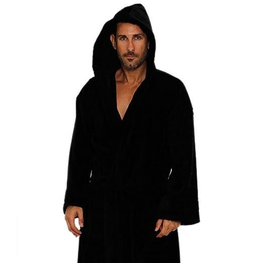 fc360eb9bf TowelRobes Velour Hooded Bathrobes For Women and Men Hooded Velour Hotel  Robe Black Small Medium