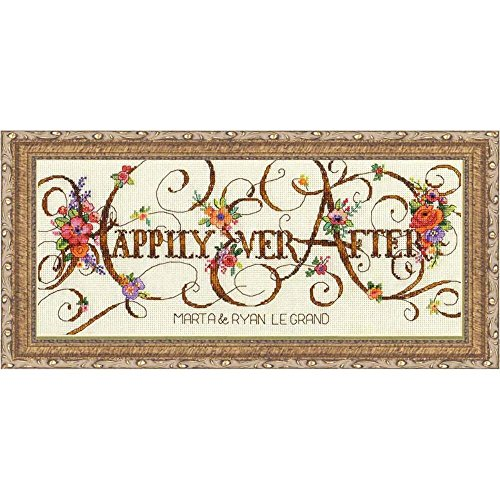 Dimensions Counted Cross Stitch Kit - Ever After Wedding Rec