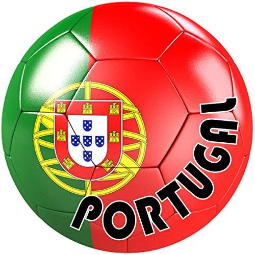 autocolant sticker equipe voiture moto football drapeau ballon foot portugal durable service