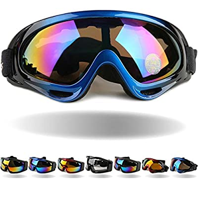 Tactical Windproof Cycling Googles Uv400 Motorcycle Ski Snowboard Goggles Eyewear Sports Protective Safety Glasses with Extra Long Adjustable Strap