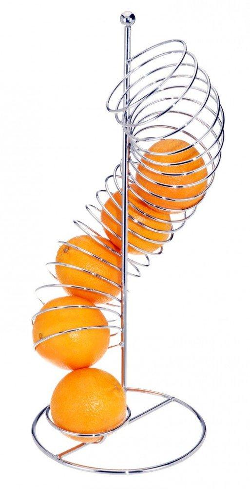 Elegant Fruit Basket–Storage for Fruit Spiral Holder Dispenser Orange Koopman