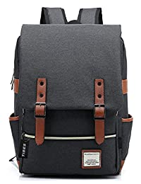 Tibes Cool Style Daypack School Backpack Oxford Fabric Backpack for High School/College Student Black