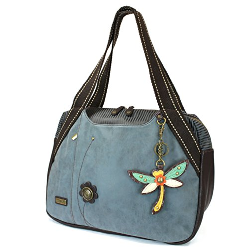Bowling Collection - Chala Handbag Bowling Zip Tote Garden Creature Collections (Dragonfly)