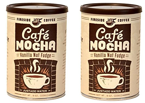 Fireside Instant Flavored Vanilla Coffee (Pack of 2) (Vanilla Nut Fudge)