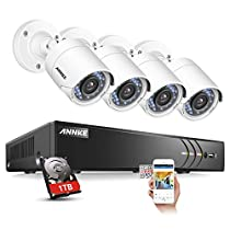 ANNKE 5-in-1 3.0MP 8CH Security DVR Recorder with 81080P Weatherproof Indoor/Outdoor Night Vision CCTV Cameras Video Security System (1TB HDD)