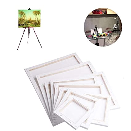Amazon.com: White Blank Rectangle Canvas Wall Art Paintings Board ...