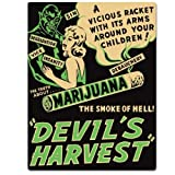 Ande Rooney 13 x 17 Tin Sign Devil's Harvest