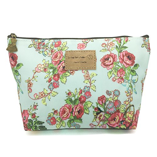 (HUNGER Flower Print Make-Up Cosmetic Tote Bag Carry Case , 14 Patterns (P1141705))