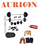 Aurion 18A Plastic Home Gym Set, 18Kg (Black)