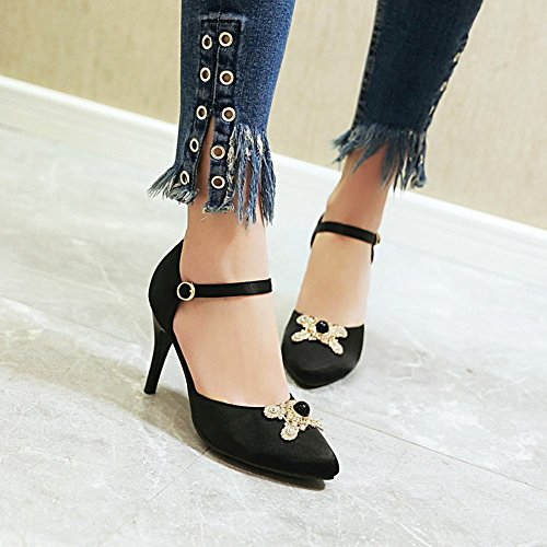 Carolbar Women's Elegant Sexy Rhinestones High Heel Stiletto Dress Shoes Black y9rS0uM7y