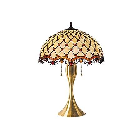 YDYG - Lámpara de Mesa de Estilo Tiffany con Pintura de Cristal ...
