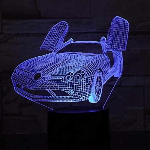 Abendmahl Auto Ferrari Tischlampe 7 Farben Ändern Schreibtischlampe 3d Lampe Neuheit Led Nachtlichter Led-Licht, Fernbedienung 7 Farben