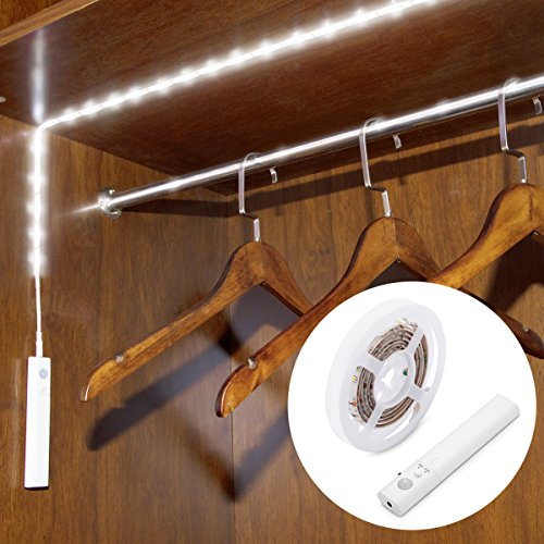 - Motion Sensor Closet Light, Willed Motion Activated Under Cabinet Light with Dual Mode, Stick-on Anywhere Wireless Battery Operated Flexible LED Strip Night Light for Stair, Crib Baby Bed