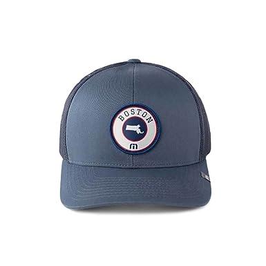 c17c60ce Amazon.com: Travis Mathew Beantown (Boston) Snapback Hat Dark Blue ...