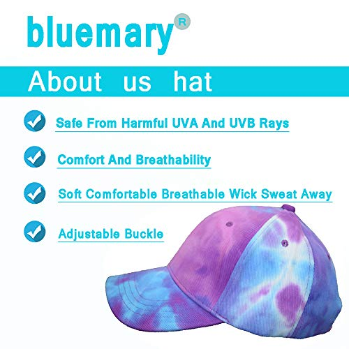 Distressed Cotton Dad Hat Baseball Cap, Sun Visors Adjustable Size,New Tie-Dyed Baseball Caps for Men and Women (BLM03)