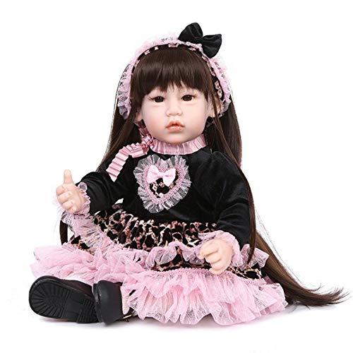 barato y de alta calidad Doll Realista Buscando Realistas Bebé Muñeca Suave Silicona Silicona Silicona Tela Cuerpo Niño Largo Pelo Niña para Cumpleaños Niño Navidad Regalo  solo cómpralo