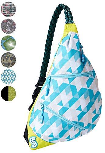 - Slope Sling Bag for Women Kids School Crossbody Shoulder Backpack One Strap Daypack - Maui Tiles