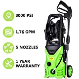 Cheap Meditool MT5 Electric Power Pressure Washer, 3000 PSI 1.76 GPM Electric Pressure Washer, High Pressure Cleaner with Hose Reel (New Model – MT5)
