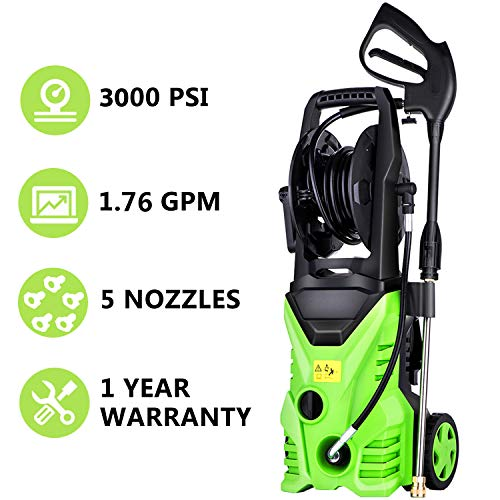 Meditool MT5 Electric Power Pressure Washer, 3000 PSI 1.70 GPM Electric Pressure Washer, High Pressure Cleaner with Hose Reel (3000PSI – W/Hose Reel) For Sale