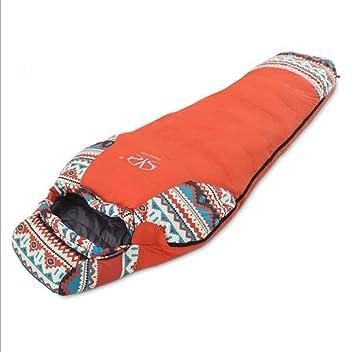 Olly Marca Saco de Dormir de Momia, Equipo de Campamento Adulto Ultraligero de Bolsa comprimida para Adultos (Color : Orange): Amazon.es: Jardín