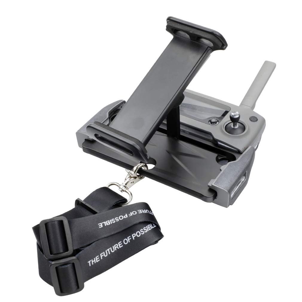Hanatora Aluminum-Alloy Foldable 4-11 Inch Tablet Phone Mount Holder Mount with Lanyard Strap for DJI Mavic 2 Pro/Zoom, DJI Mavic Air/Spark/Mavic Pro/Platinum Remote Control by Hanatora