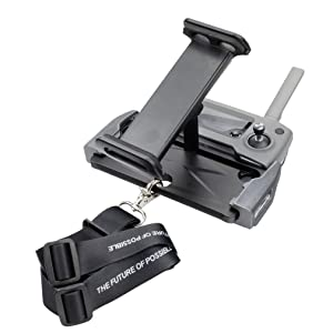 Hanatora Aluminum-Alloy Foldable 4-11 Inch Tablet Phone Mount Holder Mount with Lanyard Strap for DJI Mavic Mini,Mavic 2 Pro/Zoom, DJI Mavic Air/Spark/Mavic Pro/Platinum Remote Control