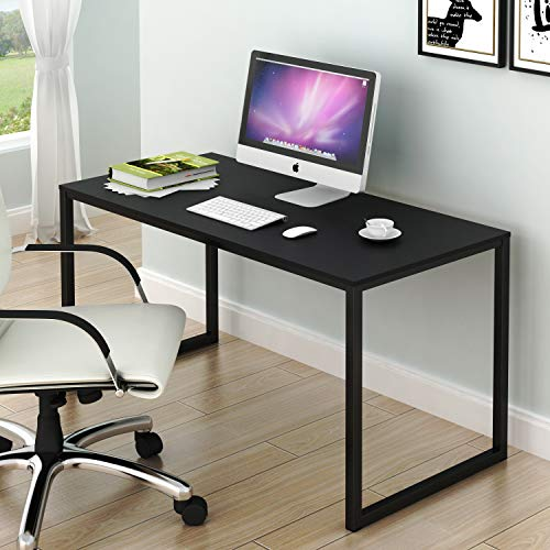 SHW Home Office 48-Inch Computer Desk, Black (Home For Desks Computer Tall)