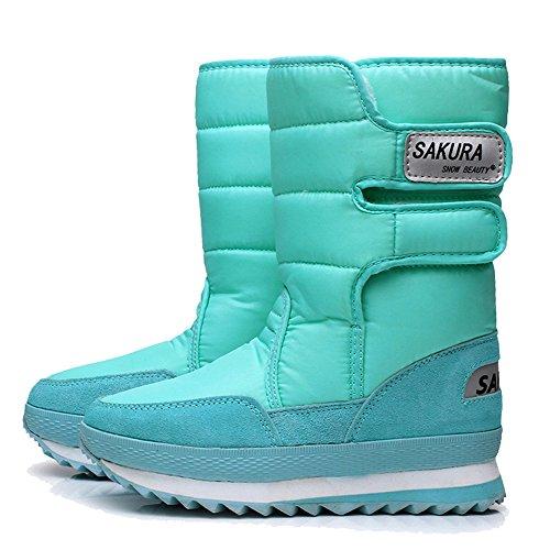 Legend E.C Ladies Waterproof Snow Boot Anti Slip Cold Weather Boot Mid Calf Outdoor Boot