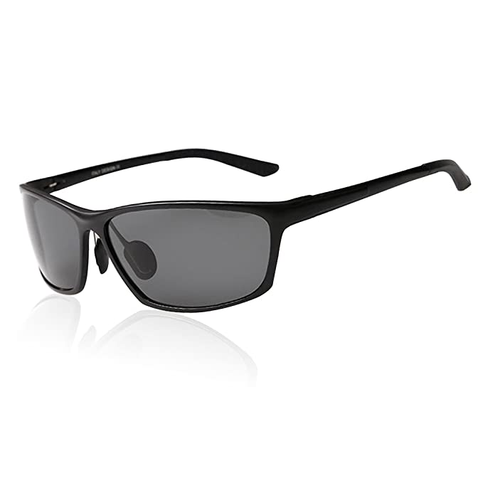 50f9a0bf424 Duco Men s Sports Style Polarized Sunglasses Driver Glasses 2179S (Black  Frame Gray Lens)