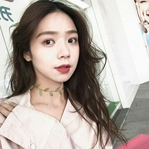 Pictures Creative Fairy Grass Green Vine Choker Necklace Pendant Short Clavicle fine Gentle Lady - Grass Photo Charm
