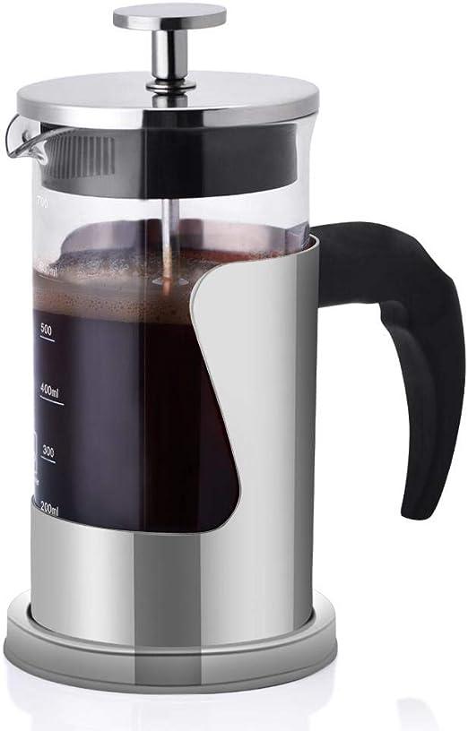 Fdit cafetera de pistón cafetera de presión Manual portátil 600 ML 5 Taza con Sistema de filtración 304 stianless Resistente al Calor: Amazon.es: Hogar