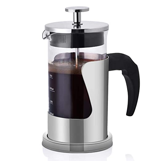 Fdit cafetera de pistón cafetera de presión Manual portátil 600 ML ...