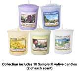 Yankee Candle Fresh And Floral Samplers Votive Candles Collection Gift Set