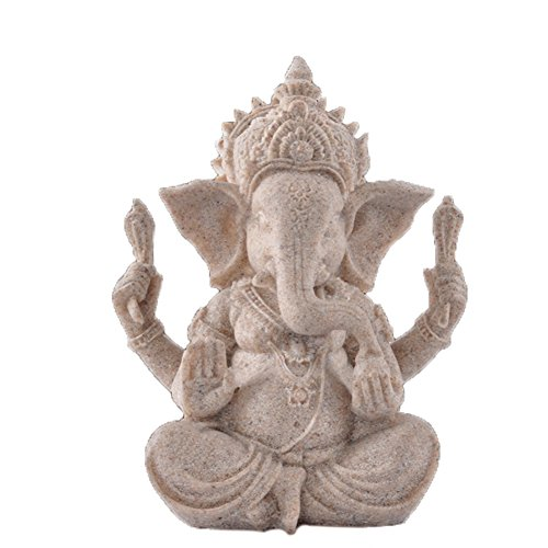 OMEM Fish Tank Decorations Ganesh Buddha Statue Aquarium Ornaments Home Decorations Gift (S)