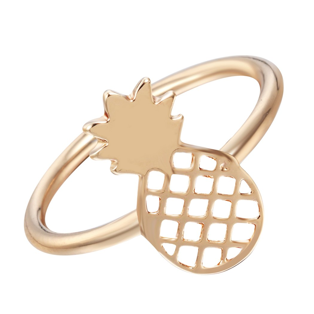 Handmade Hollow Pineapple Ring Plating Alloy Jewelry Ring for Women RGC00053-2
